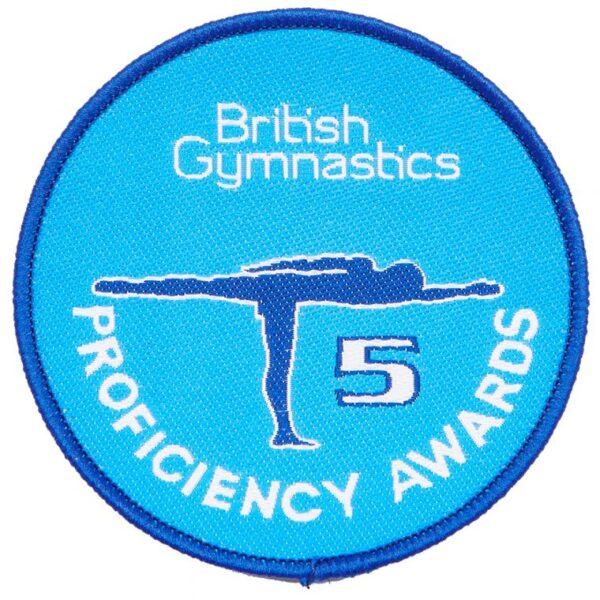A British Gymnastics Badge 5